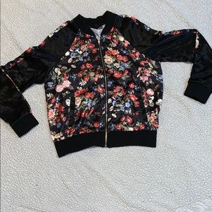 Almost Famous floral bomber jacket